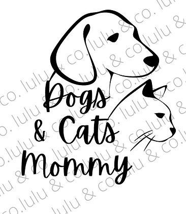מדבקה  עמידה לרכב (או לאן שתרצו) -   Dog & Cat Mommy / Daddy