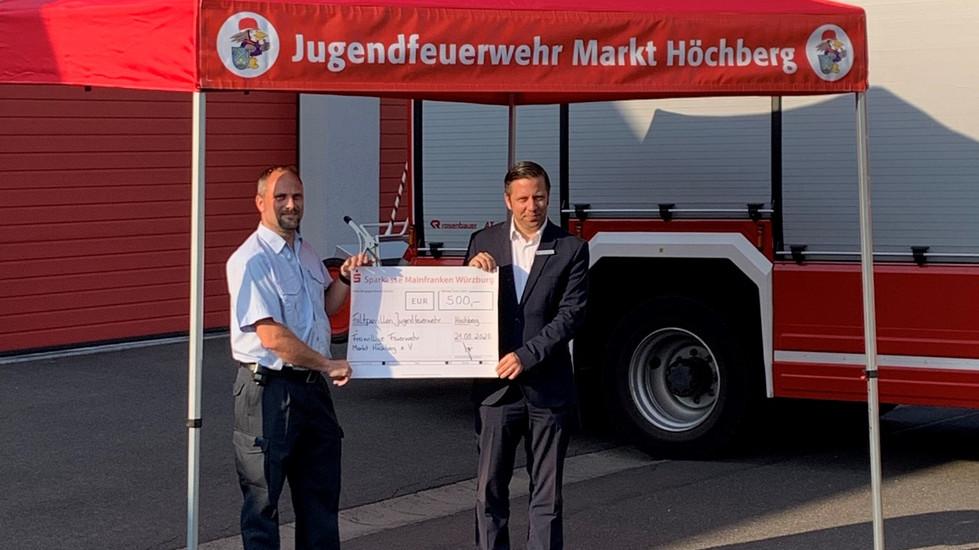 Jugendfeuerwehr erhält Spende über 500,- €