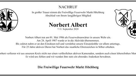 Wir trauern um unseren aktiven Kammeraden Norbert Albert
