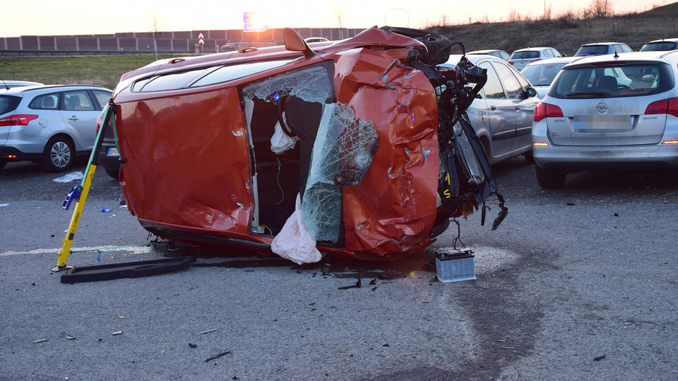 Schwerer Verkehrsunfall bei Kist