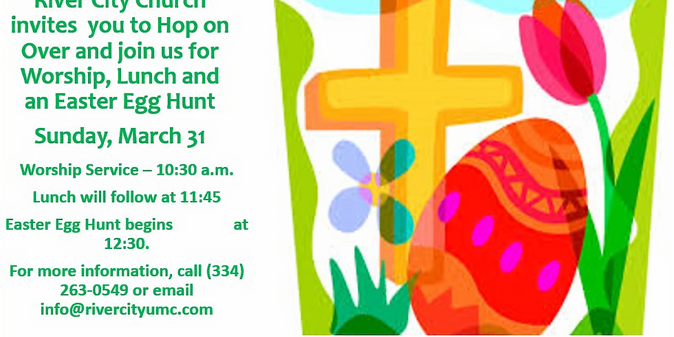 Worship, Lunch, and Easter Egg Hunt