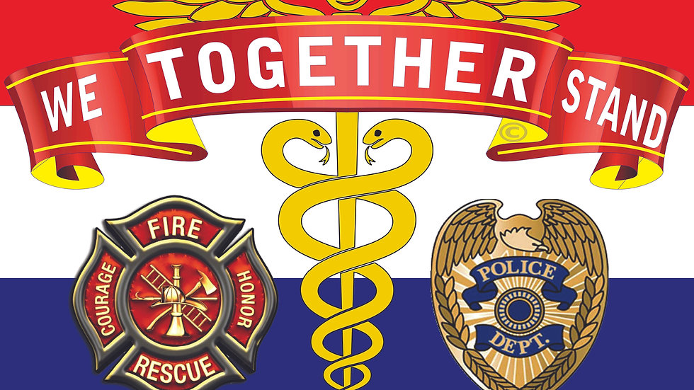 "YARD SIGN Together We Stand 24""x 18"" First Responders"