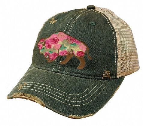 Buffalo Rose Cap Hat-624 Prairie Grass