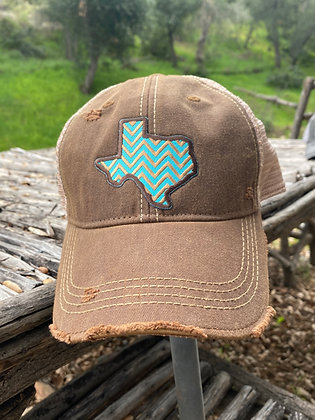 Texas Chevron Hat-2022 Vintage Chocolate