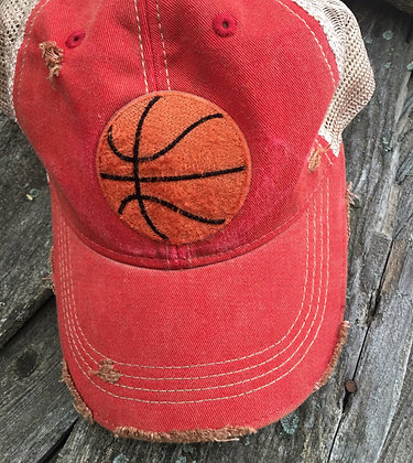 Distressed Basketball Caps Choose from 12 Colors