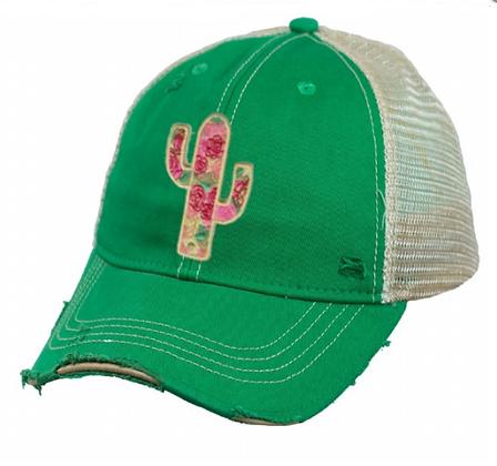 Cactus Rose Cap Hat-627 Saguaro Green