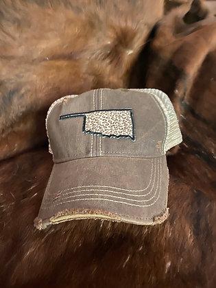 Oklahoma Leopard Cap Hat-2060 Chocolate