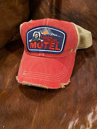 Original Cowgirl Motel Cap Hat-2059 Vintage Red Wash