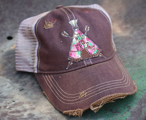 Teepee Wild and Free Cap Hat-647