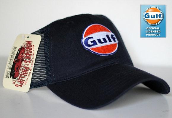 Classic Gulf Trucker Cap Hat-005MPG  Navy/Navy Mesh