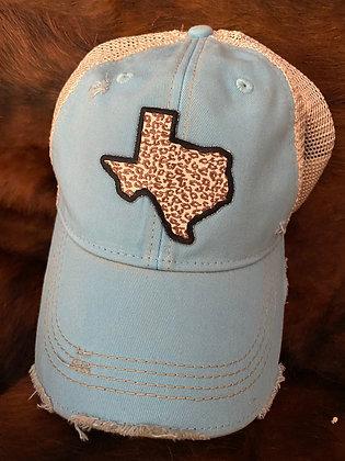 Texas Leopard Cap Hat-2053 Vintage Turquoise