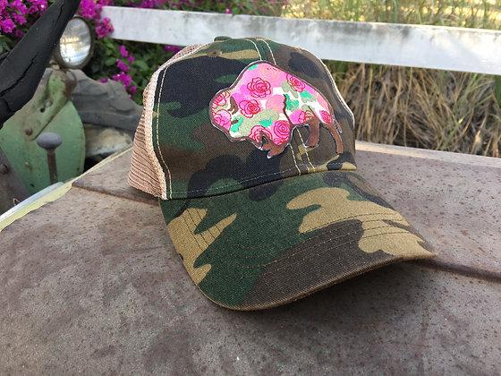 Buffalo Rose Hat-636 Camo