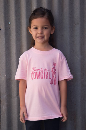 Born to be a Cowgirl Pink Toddler  & Youth