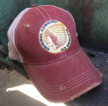 Original Cowgirl Cap with Chief  Hat-691 Wine