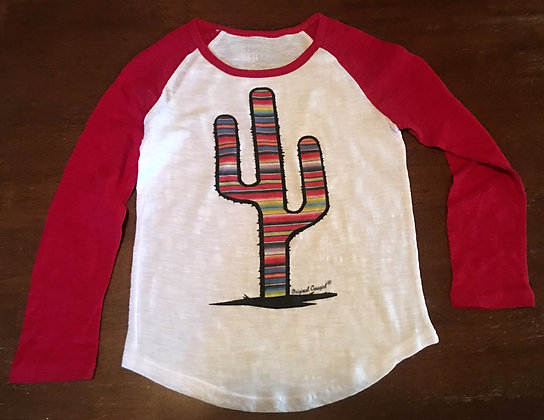 Prickly Cactus Serape Baseball TY-222 Youth Red