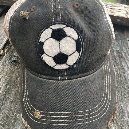Distressed Soccer Cap Hat-800 Choose from 12 Colors