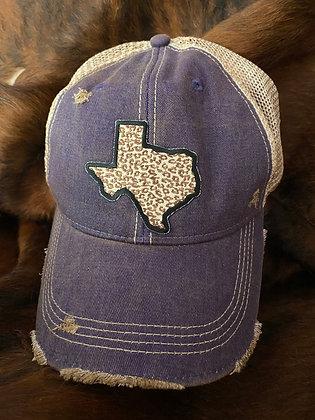 Texas Leopard Cap Hat-2039 Vintage Purple Rush