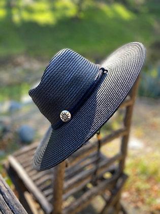 Outback Hat with Stampede String Hat-2032 Black