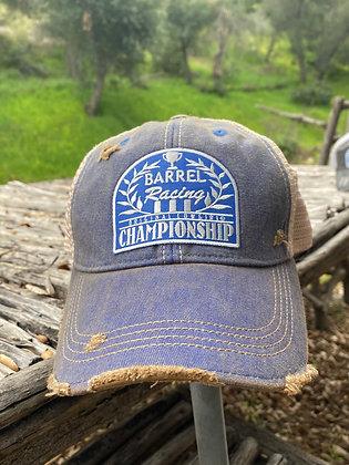 Barrel Racing Championship Cap Hat-2024 Vintage Blue