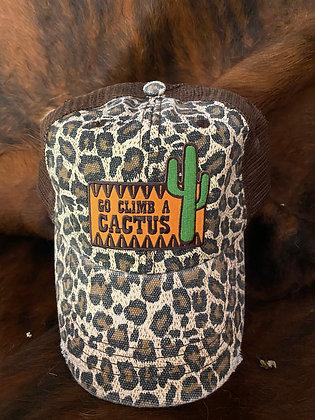 Go Climb a Cactus Leopard Cap Hat-2050 Leopard