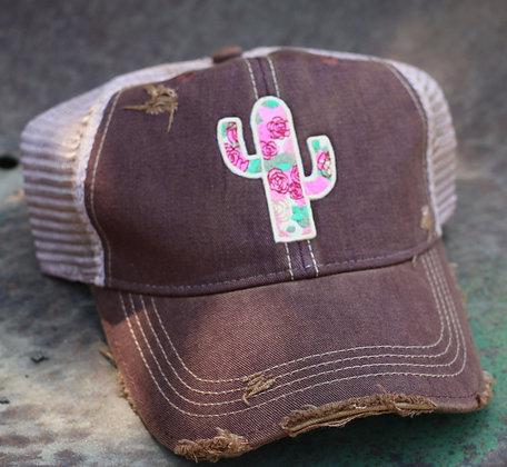 Cactus Rose Hat-645 Maroon