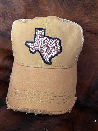 Texas Leopard Cap Hat-2040 Spicy Mustard