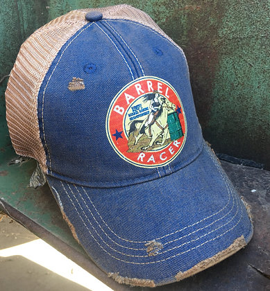 Barrel Racer Cap Hat-692 Vintage Blue