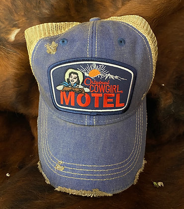 Original Cowgirl Motel Cap Hat-2055 Vintage Blue