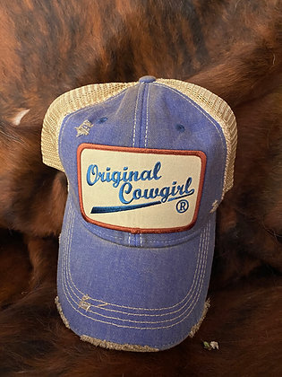 Original Cowgirl Logo Cap Hat-2061 OCC Vintage Blue