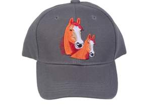 Youth Horse Cap Hat-601 Grey