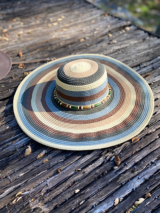 Dolly Country Sun Hat Hat-2033 Brown/Blue