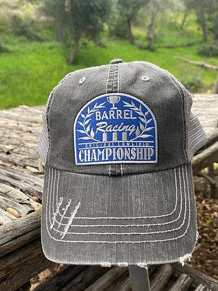 Barrel Racing Championship Cap Hat-2025 Vintage Black/Silver