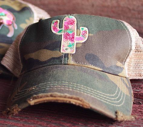 Cactus Rose Cap Hat-637 Camo