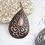 Thumbnail: Gypsy Cowgirl Tear Drop Earring J-5002