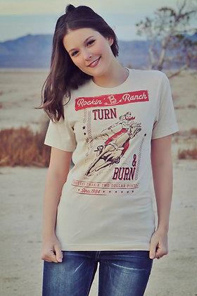 Rockin' B Turn N Burn Tee RB-002