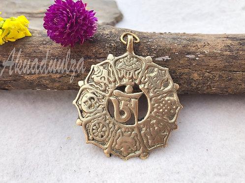 Om Buddhist Pendant / Astha Mangal pendant