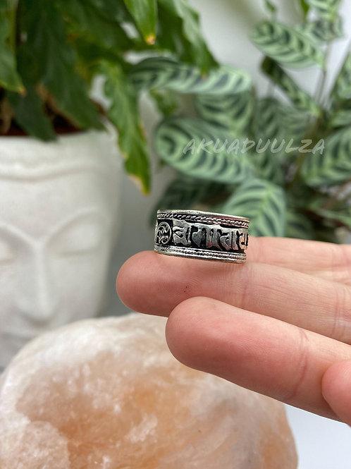 Om Mani Padme Hum ethnic ring / Newari Ring