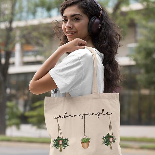 Urban Jungle Tote Bag | Hand Made Illustration