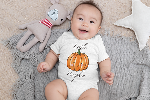 Little Pumpkin Bodysuit | Handmade Baby Bodysuit | Cute Pumpkin