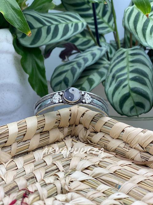 Yin and Yang Bracelet/ Ethnic Bangle / Handmade Nepali Bangle