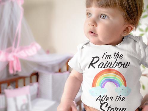 I'm The Rainbow After The Storm Bodysuit | Handmade Baby Bodysuit