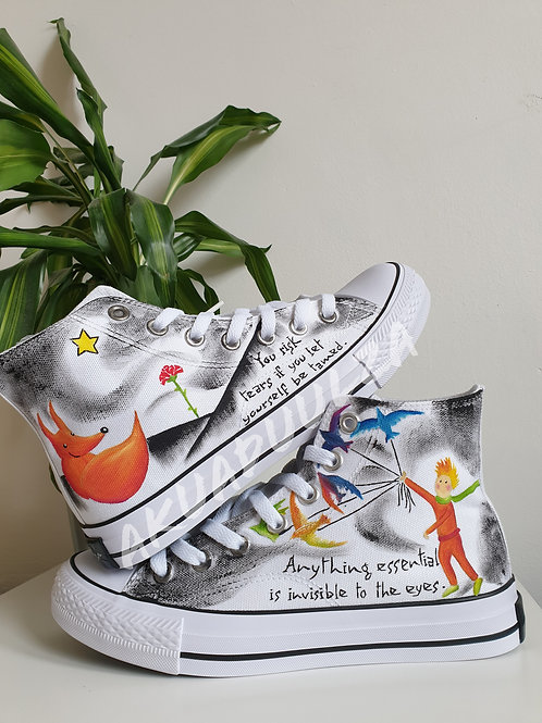 The Little Prince Inspired Hand Painted Shoes / Le Petit Prince Inspired