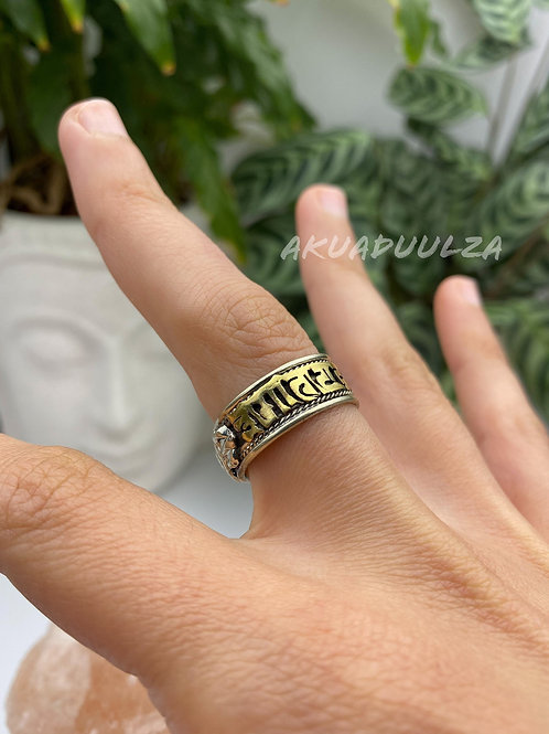 Om Mani Padme Hum ethnic ring / Meditation mantra Ring