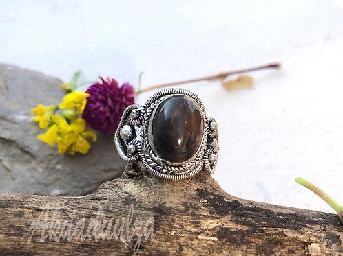 Turquoise - Tiger Eye stone bohemian ring