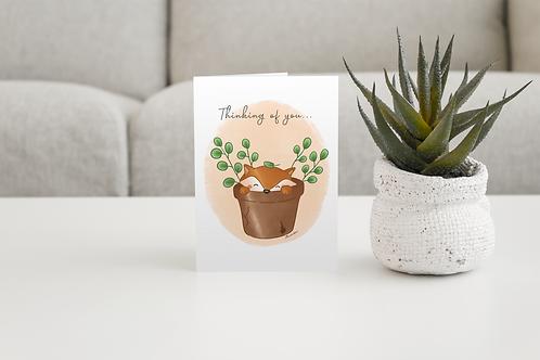Thinking Of You Handmade Greeting Card / A5 Card | Handmade Illustration