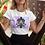 Thumbnail: Hippie Tie Dye Lotus T shirt | Handmade Illustration