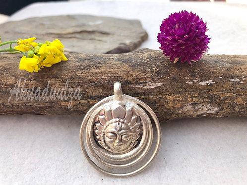 Sun Moon Pendant / Hippie Boho Necklace
