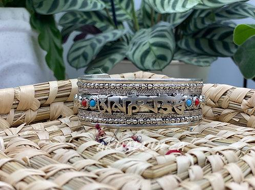 Om Mane Padme Hum | Ethnic Cuff bracelet / Himalayan Tibetan Jewellery