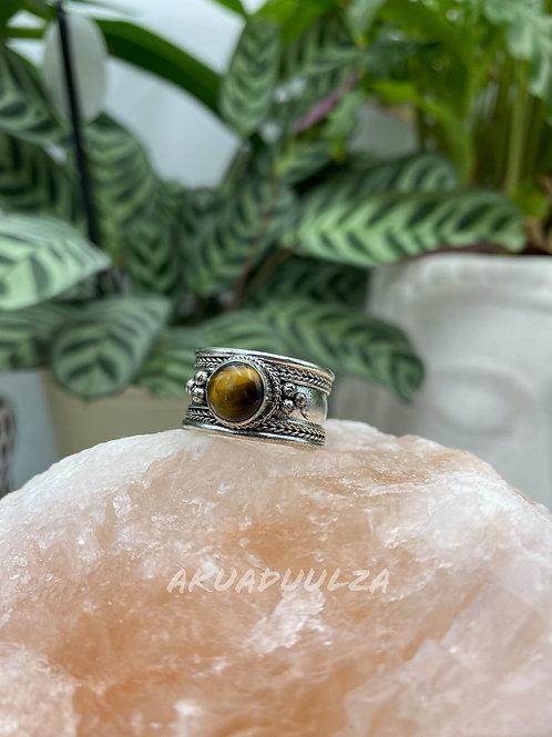Tiger Eye stone ring / Tibetan Handmade Ring