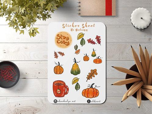 Autumn Sticker   Hand Made Illustration